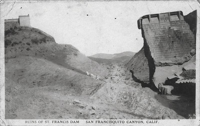 Ruins of St. Francis Dam SAN FRANCISQUITO CANYON