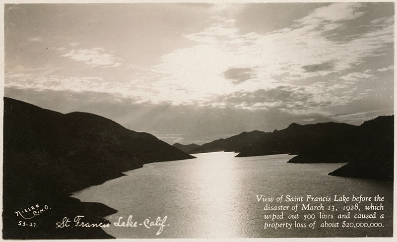 St. Francis Reservoir. SAN FRANCISQUITO CANYON. Photos of the St. Francis Dam disaster.