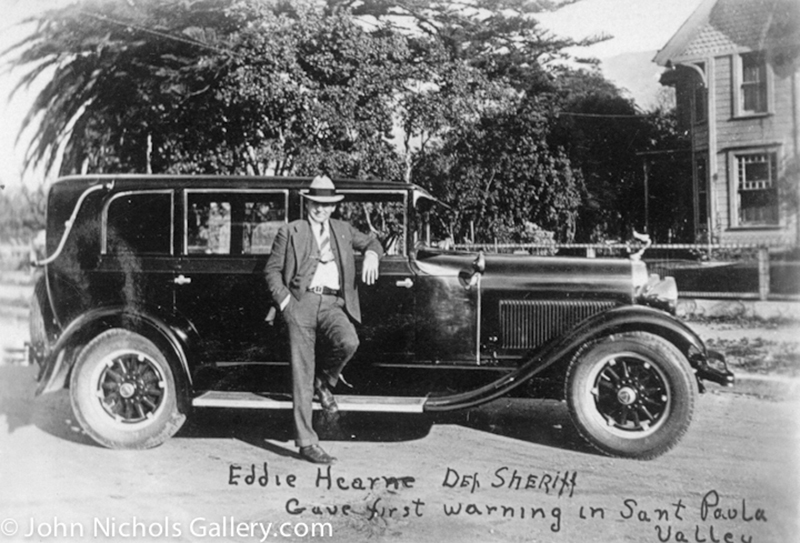 Deputy Sheriff Eddie Hearne. Photos of the St. Francis Dam disaster.