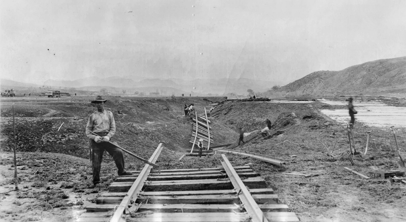 Southern Pacific Tracks Moved  CASTAIC JUNCTION | ST. FRANCIS DAM DISASTER