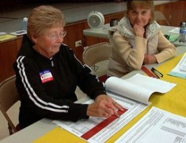 Poll workers in Friendly Valley | File photo