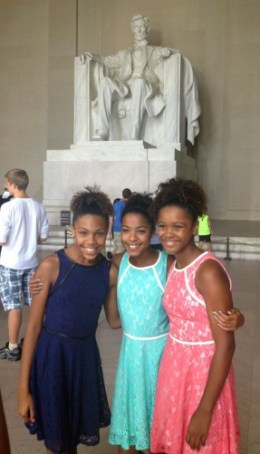 From left: Twins Sydney and Shelbi Schauble, 11;  Kennedy Stephens, 12.