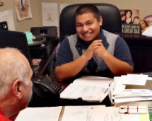 Raul Domrique has been part of the employment program developed between AMS Fulfillment and the Santa Clarita Valley Youth Activities League center for several years.  Photos: LASD