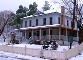 It didn't rival the great snow of '62 by any stretch, but the historic Pico Canyon oil town of Menryville - and the rest of the SCV - did get a nice little dusting Jan. 2, 2011.