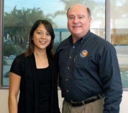 New General Manager Truc Dever with former GM Ken Bayless.