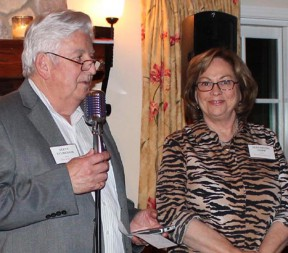 """Steve Sturgon and Elizabeth Hopp, last year's winners, are this year's co-chairs. This year's winners will be next year's co-chairs. It's the price they pay for the souvenir license plate holder that says """"Man/Woman of the Year."""""""
