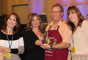 From left: Marcy James, Tracey Gold, second place winner Steve Corn and Nicole Stinson.