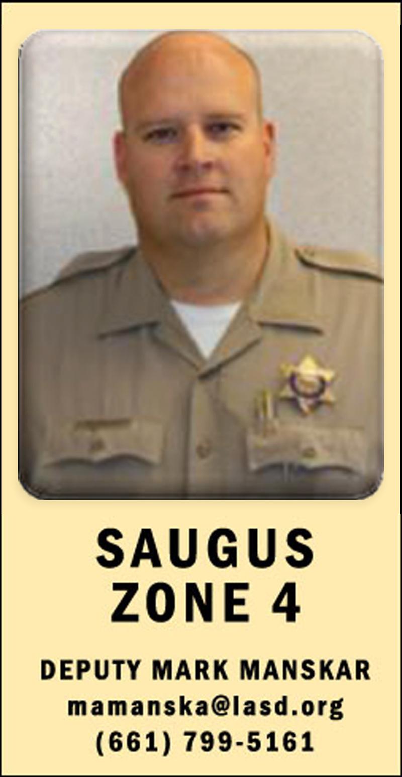SCVNews com | Weekly Crime Blotter: Saugus | 07-31-2014