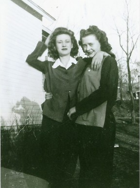Matriarchs of the family I married into: My husband Brad's grandma Millie and her sister Jackie. Lots of great motherhood came from these two ladies.