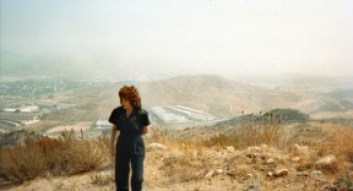 Connie envisioning the future cross-valley connector in October 1993.