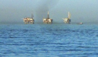 Oil platforms off of Carpinteria