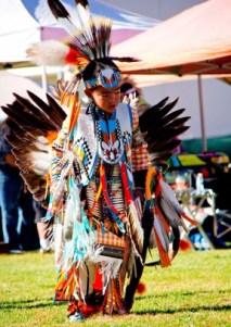 File photo: Sam Sierra dances at last year's CSUN powwow. Photo: Scott Andrews/CSUN
