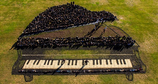 West Creek Academy Creates 'Living Painting' Of Piano-7