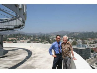 John Palladino (right) and former Capitol colleague Stephen K. Peeples hit the roof of the Capitol Tower on a visit on August 10, 2010. Photo: Greg Parkin.