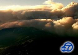Lake Fire burns Friday in San Bernardino National Forest   Photo: ABC7