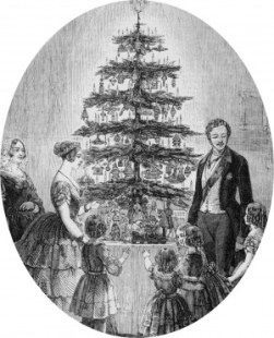 Christmas tree at Windsor Castle, 1848