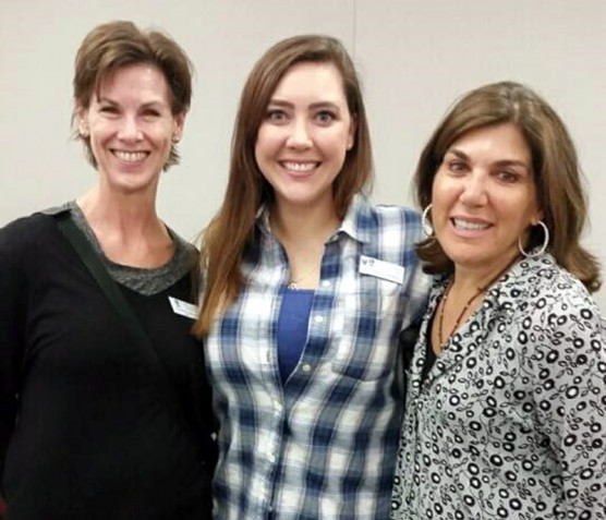 President Rebecca Johnston (SI of Greater Santa Clarita) and President Amanda Etcheverry (SI of Santa Clarita Valley) with event Co-Chair Vanessa Wilk