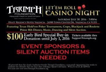 casino night flyer triumph foundation