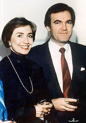 Hillary Clinton, Vincent Foster in happier times.