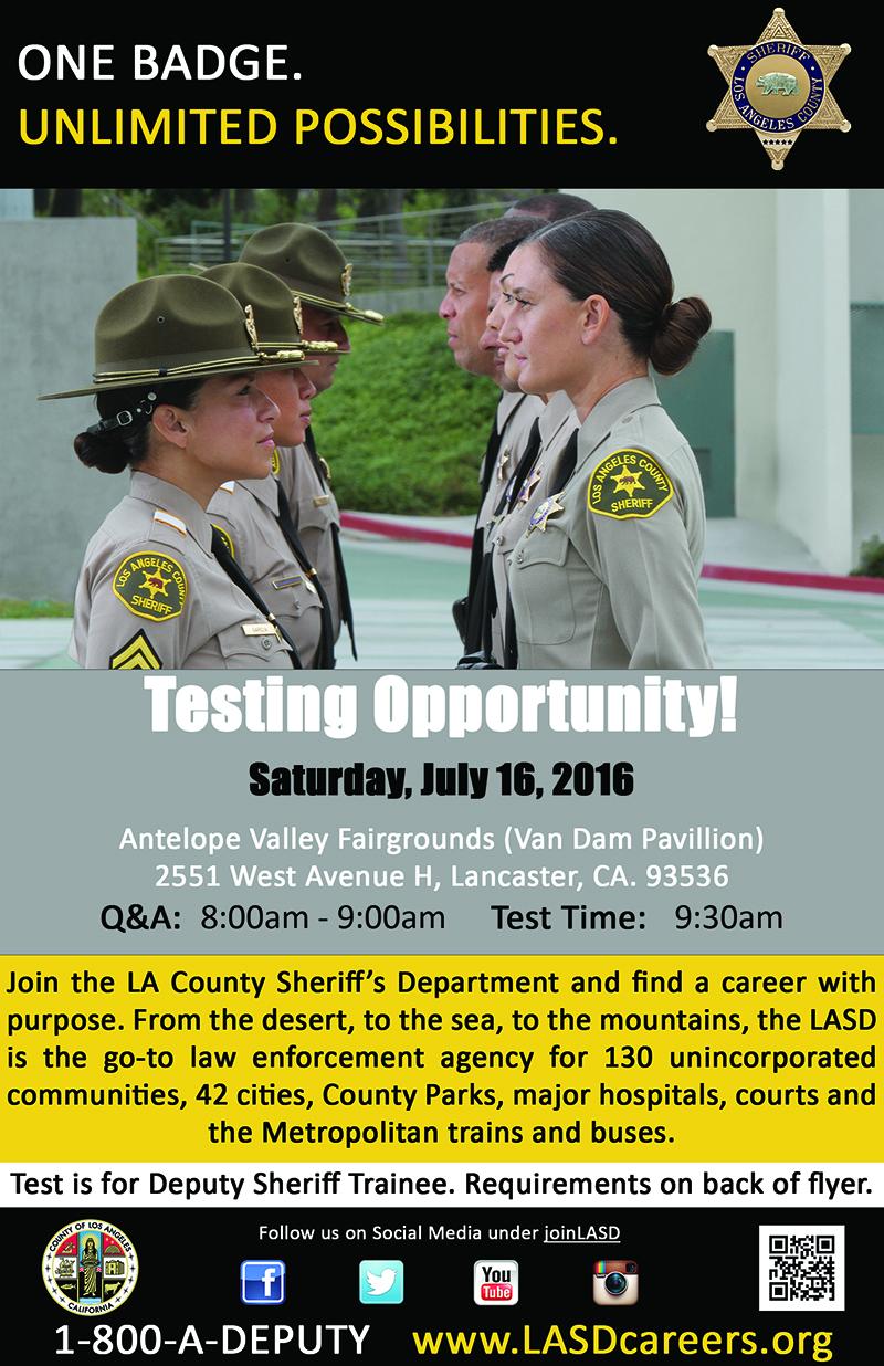 Scv News July 16 Take The Test To Be A Deputy Sheriff Scvnews Com
