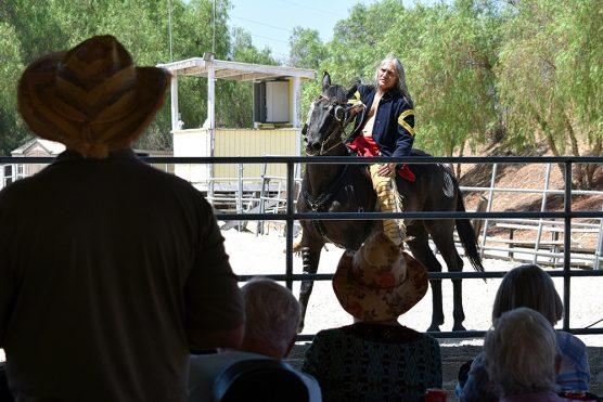 Anton Gonzales on war horse
