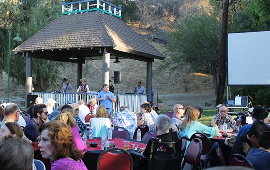 """More than 200 guests enjoyed entertainment by """"Mild Bill and the Mild Cats"""" at Silents Under the Stars at Hart Hall in Newhall."""
