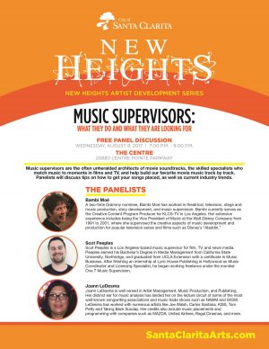 Music Supervisors Panel flyer