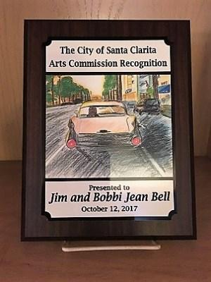 Santa Clarita Arts Commission recognition of Jim and Bobbi Jean Bell, October 12, 2017.