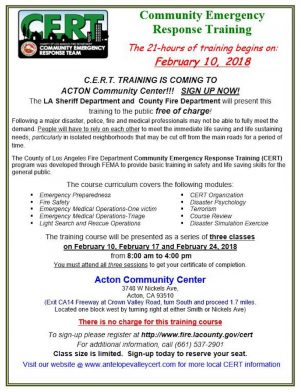 Free Talk In Acton Tuesday June 2nd By >> Scvnews Com Feb 10 17 24 3 Day Cert Training In Acton 01 09 2018