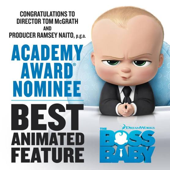 The Boss Baby Oscar nomination