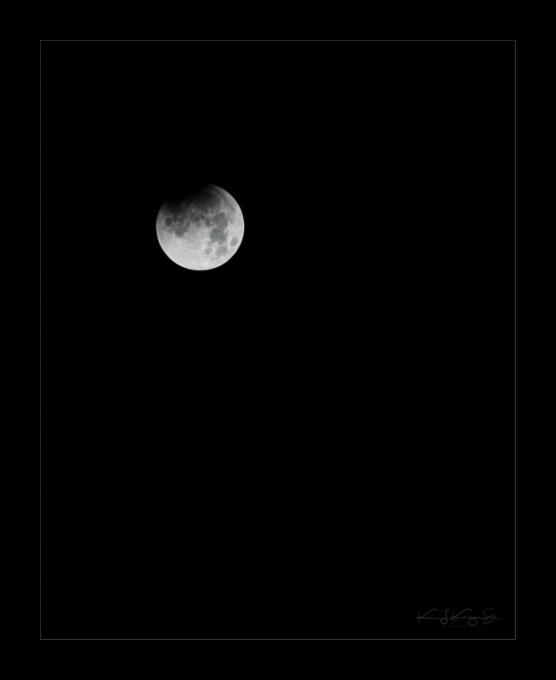 The beginning of the lunar eclipse Wednesday, Jan. 31, 2018 around 3:45 a.m. | Photo: Kevin Karzin