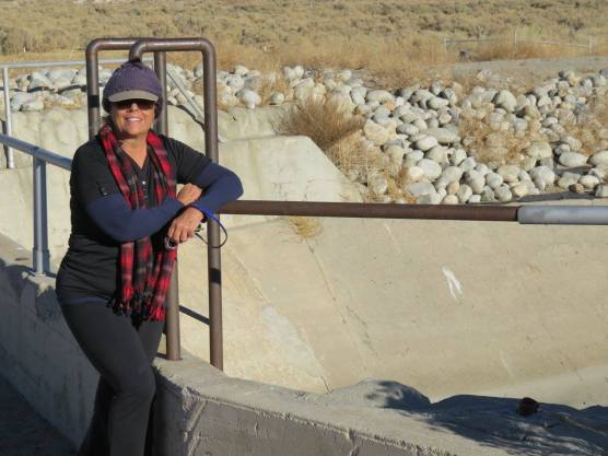 Dianne Erskine-Hellrigel at St. Francis Dam site