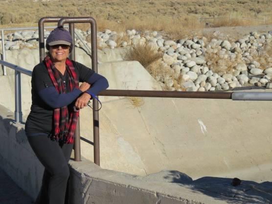 Dianne Erskine-Hellrigel at St. Francis Dam site.
