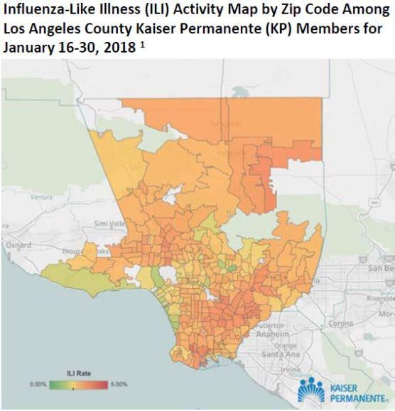 L.A. County influenza watch week 4 2018