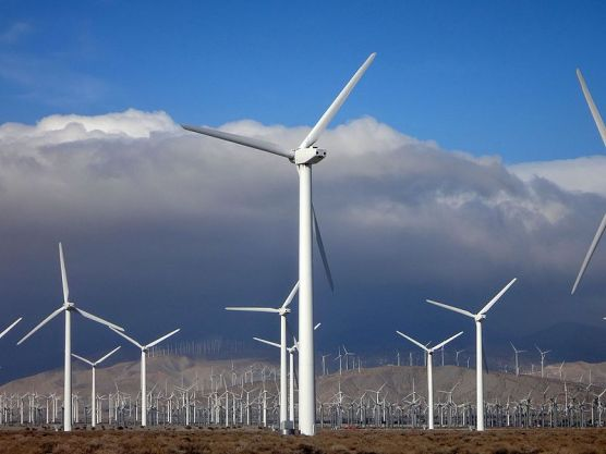 Wind turbines in Southern California. Photo: Erik Wilde-WMC 2.0