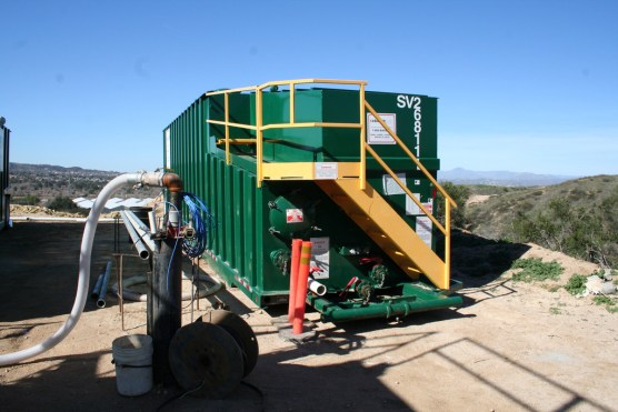 Toxic soil and groundwater cleanup equipment at the Whittaker-Bermite site. Photo: City of Santa Clarita.