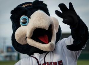 "Lancaster JetHawks mascot ""Kaboom."" | Photo: Kevin Karzin."