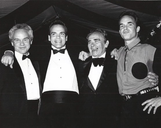 The Stone Dynasty - Stephen, Jonathan, Cliffie and Curtis at a BMI Awards dinner show in 1989.