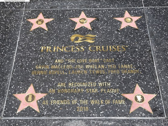 Princess Cruises Honorary Hollywood Walk of Fame Plaque