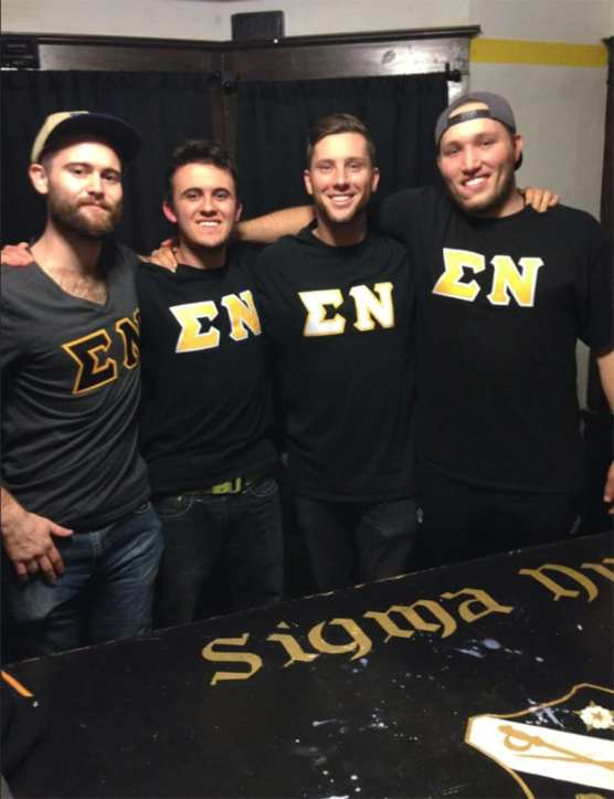 Chad O'Melia and fraternity brothers
