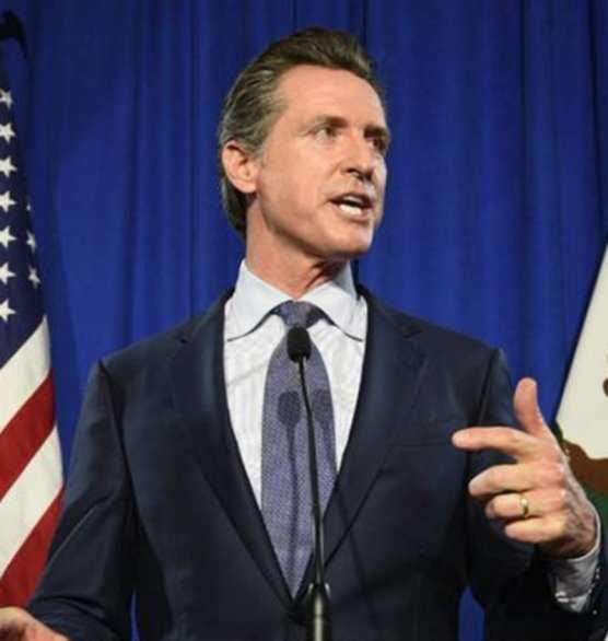 California Governor-elect Gavin Newsom on election night, Nov. 5, 2018. aging
