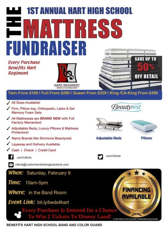 Hart High School Band and Color Guard Mattress Sale