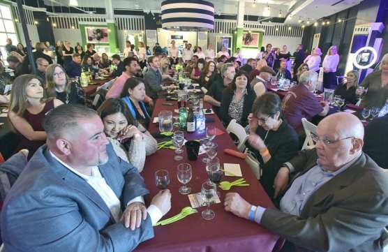 Hundreds attend the 'Wine on the Roof…Dine on the Roof' event presented by The WiSH Education Foundation and held at the Westfield Valencia Town Center in Valencia on Thursday. | Photo: Dan Watson/The Signal.