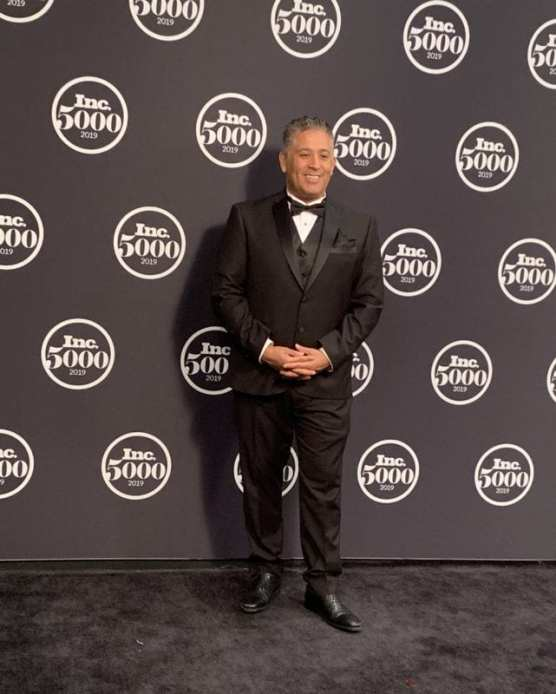 Adel Villalobos, CEO and founder of Lief Labs, attends the 2019 Inc. 5000 Gala to celebrate Lief's rise to 1,022 on the Inc. 5000 list of America's fastest-growing, privately held companies. | Courtesy photo.