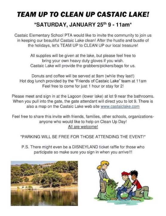 Castaic Lake Clean Up
