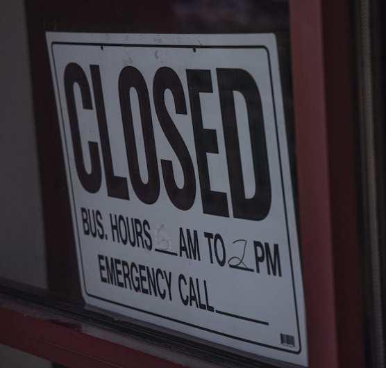 Crazy Ottos Closed Sign