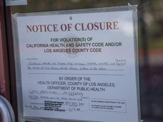 Crazy Ottos Notice of Closure