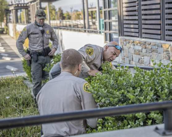 Deputies Search for Evidence at Newhall Metrolink Station