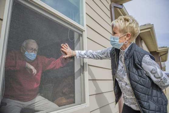 Chris Morley visits her father David Chalberg