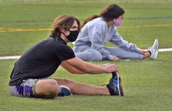 Vikings Sprinters Trey Suffedini and Cienna Cruz